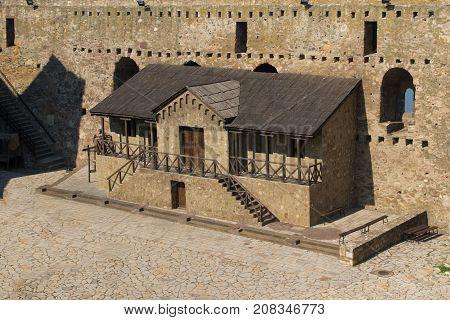 Detail of medieval city Smederevo in Serbia on Danube river