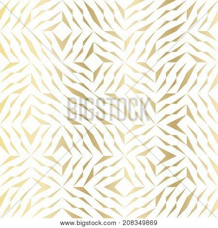 Seamless Vector Geometric Golden Element Pattern. Abstract Background With Gold White Texture. Simpl