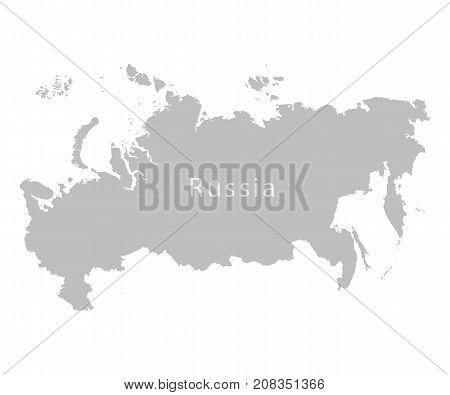 Territory of Russia on a white background. Vector illustration