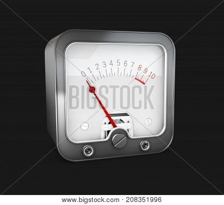3D Illustration Of Electrician Multimeter Tester, Isolated On Black