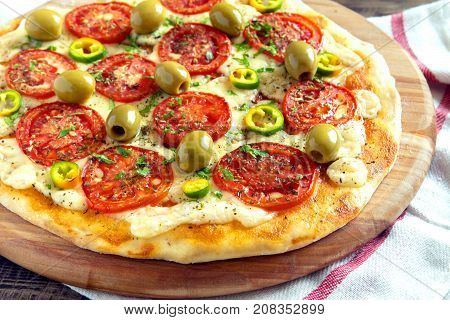 Vegetarian Pizza.