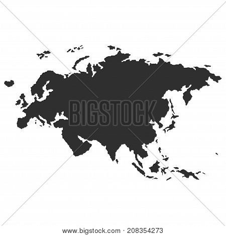 Territory of Eurasia. Dark background. Vector illustration