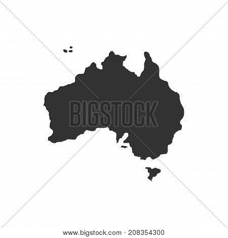 Territory of Australia. Dark background. Vector illustration