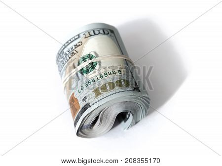Usa Currency, Roll Of One Hundred Dollars