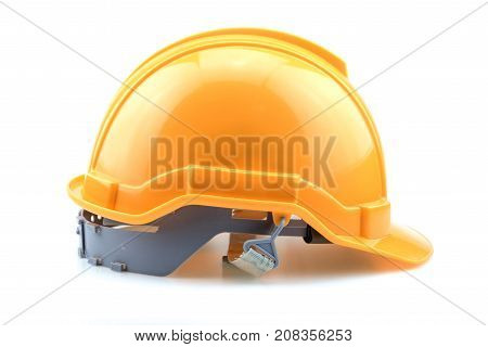 Isolated Yellow Helmet For Builder