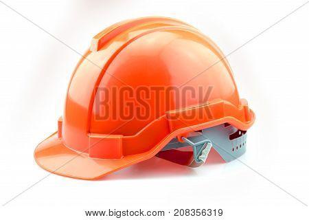 Isolated Orange Helmet For Builder
