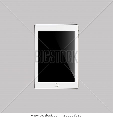 Touch pad on the grey background.Vector illustration.