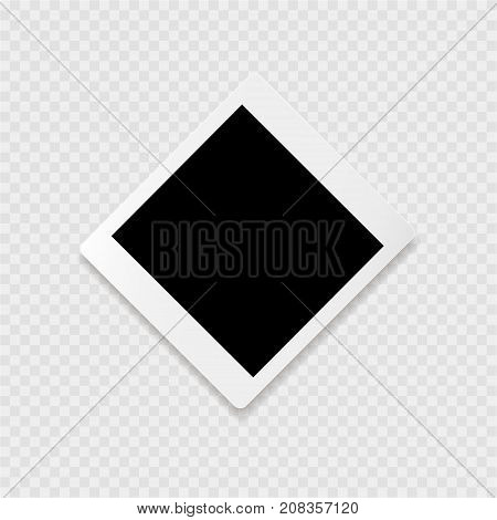 Photoframe with white contour on the grey background