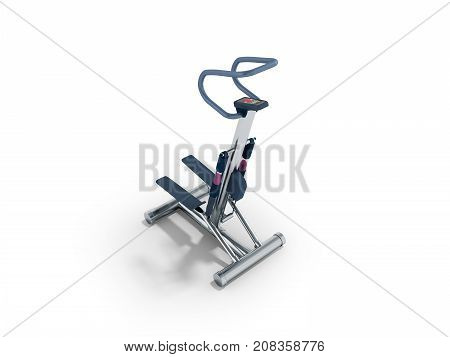 Sports Trainers For Foot Stepper Blue Perspective 3D Render On White Background