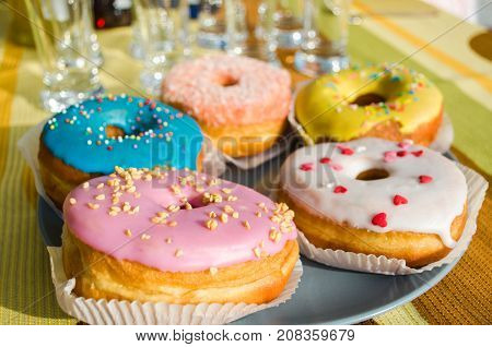 Assorted Donuts In The Glaze