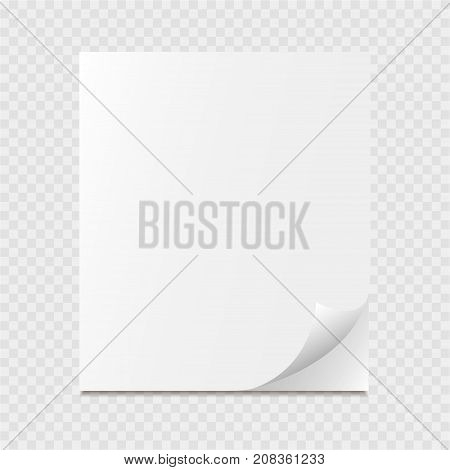Page curl icon on a grey background. Vector illustration.