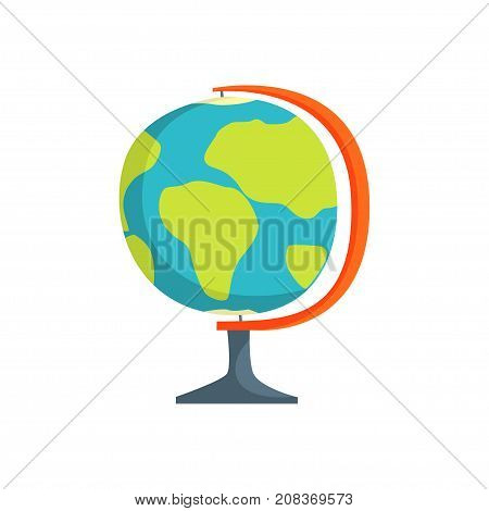 School geography globe cartoon vector Illustration isolated on a white background