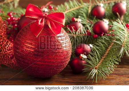 Christmas Bauble With Red Bow