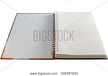 Open Book Hardcover Isolated On White Background