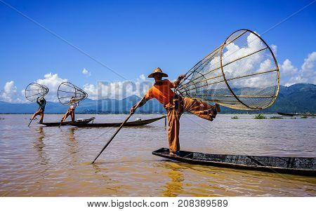 Landscape Of Inle Lake, Myanmar