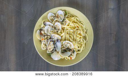 Clams Pasta Seafood Dish