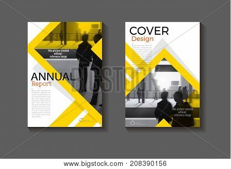 abstract Yellow cover design modern book cover abstract Brochure cover templateannual report magazine and flyer layout Vector a4