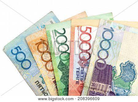 Kazakh tenge money . Photos in the studio