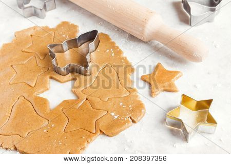 Preparing Christmas Gingerbread