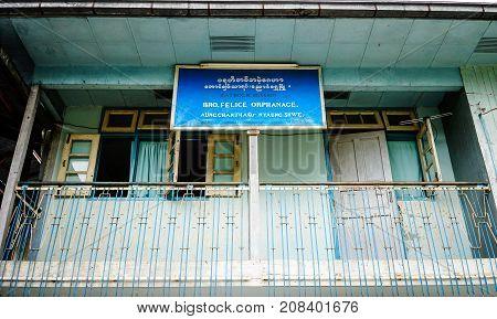 Old House Located In Yangon Myanmar