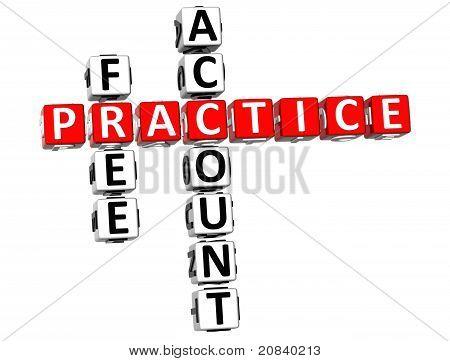 3D Practice Free Account Crossword