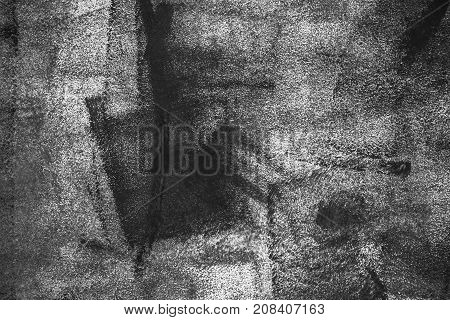 Rough grunge texture of uneven paint strokes modern abstract background