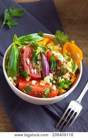 Bulgur Vegetables Salad