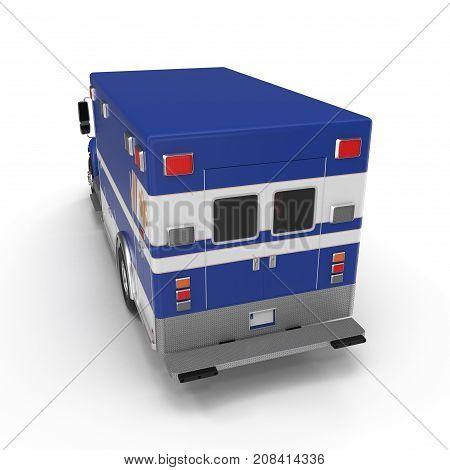 Paramedic Van isolated on white Background. 3D Illustration