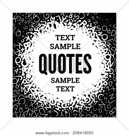 Quote Blank Template On White Background.