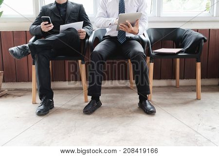 Business people waiting for job interview. Human resource , Job interview, Job seeker.
