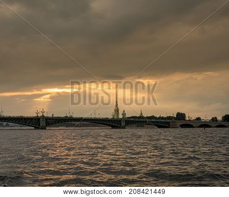 Peter and Paul Fortress on Neva River in St Petersburg, Russia