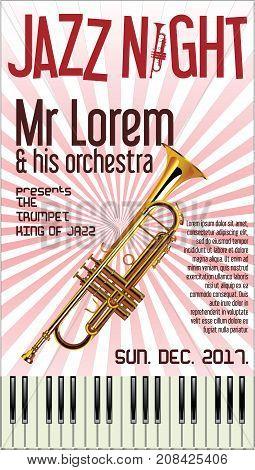 Poster Jazz Festival Trumpet Vector Illustration 2.eps