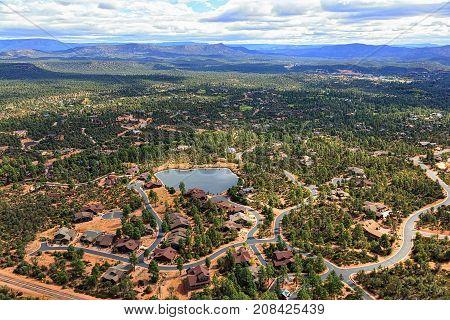 View of the Mogollon Rim from Payson Arizona