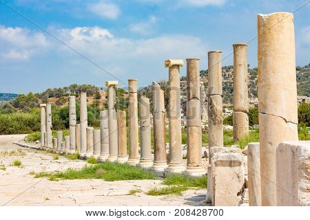 The Rows Of Columns Of Agora Shows The Wealth Of Ancient City Patara