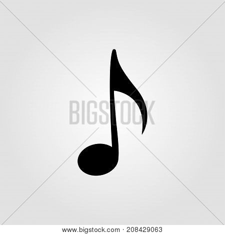 Music notes on a grey background. Vector illustration.