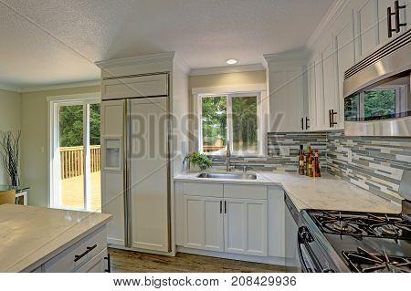 Beautiful Open Plan Second Floor White Kitchen