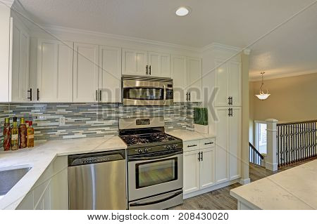 Beautiful Open Plan Second Floor White Kitchen
