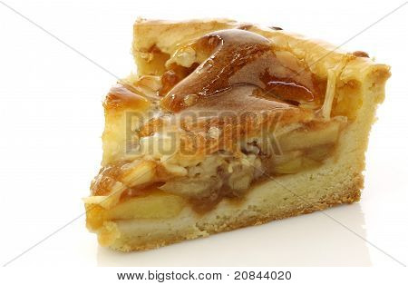 Fresh piece of fresh apple pie