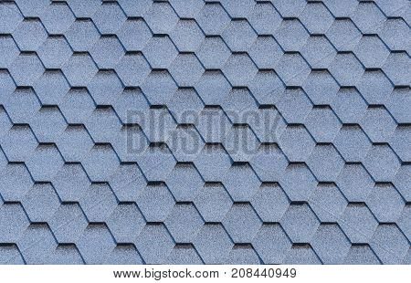House roof hexagonal tile coverage texture background.