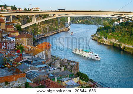 Cruise Ship. Douro River. Porto