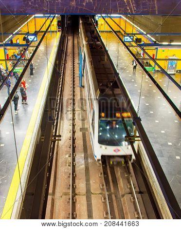People At Madrid Metro , Spain