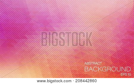 Polygonal background with oblique lines. Flat Vector