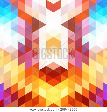 Bright abstract background of inclined geometric shapes. The movement space. Color spots.
