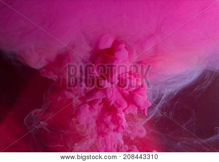 Motion Color drop in water, Ink swirling in water, Colorful ink in water abstraction.Fancy Dream Cloud of ink in water soft focus