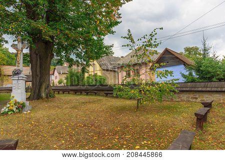 The Yard Of The Roman Catholic Wooden Church Of Hervartov