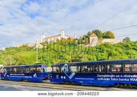 Castle, With A Tram, Bratislava