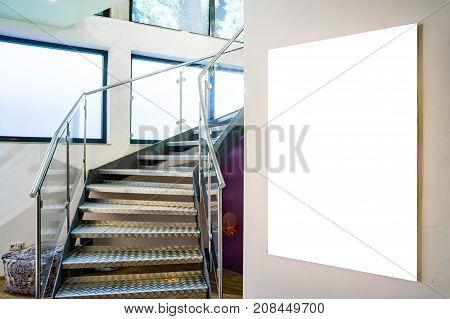 Modern House Home Designer Mockup Acrylic Blank Isolated White Decoration Furniture Interior Indoors