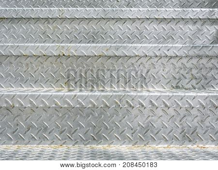 Close Up Study of Steel Texture On Subway (Underground) Staircase