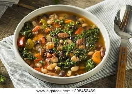 Hot Organic Homemade 10 Bean Soup
