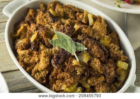 Homemade Organic Thanksgiving Stuffing
